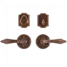 "Round Bordeaux Entry Set - 3 1/4"" Silicon Bronze Brushed"