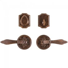 "Round Bordeaux Entry Set - 3 1/4"" Silicon Bronze Brushed"