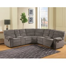 Conan 3PC Reclining Sectional - Graphite Grey