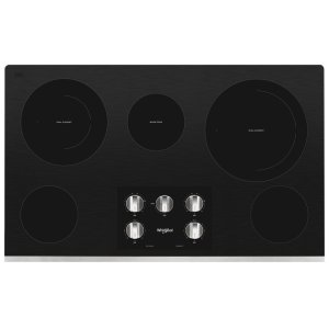 36-inch Electric Ceramic Glass Cooktop with Two Dual Radiant Elements - STAINLESS STEEL