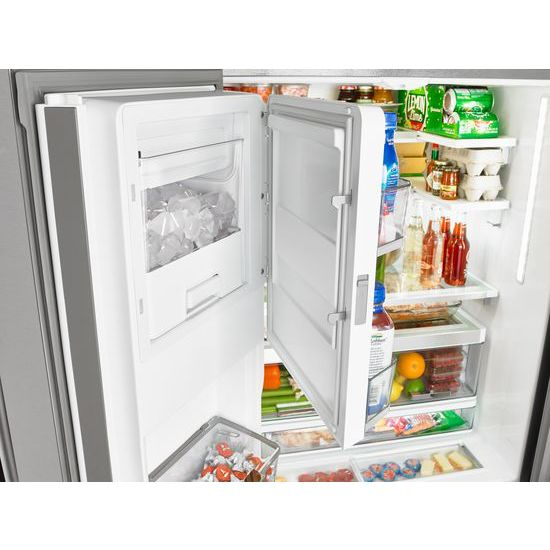 Whirlpool® 36 Inch Wide French Door Refrigerator With Infinity Slide Shelf    32 Cu