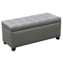 Abby Storage Ottoman in Grey