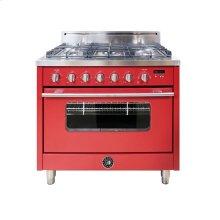 36 Inch 5-Burner Italian Gas Oven (RED)