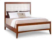 Catalina Double Fabric Upholstered Bed with 22'' Low Footboard