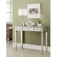 Contemporary Antique Silver Mirrored Console Table Product Image