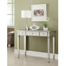 Contemporary Antique Silver Mirrored Console Table