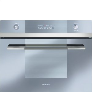 "Smeg60CM (Approx. 24"") Built-in Speed Oven with 1000W Microwave, Supersilver Glass"