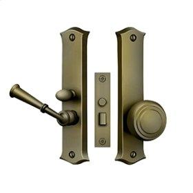 Storm Door Latch, Classic, Mortise Lock - Antique Brass