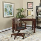 Deluxe Wood Banker's Chair With Vinyl Padded Seat In Espresso Finish Product Image
