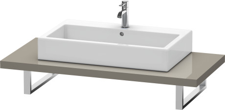 Console For Above-counter Basin And Vanity Basin, Flannel Grey High Gloss Lacquer