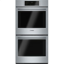 "800 Series, 27"", Double Wall Oven, SS, EU conv./Thermal, Touch Control"