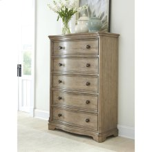 Corinne - Five Drawer Chest - Sun-drenched Acacia Finish