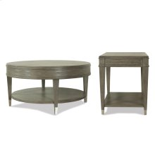 Dara Two - Round Coffee Table - Gray Wash Finish