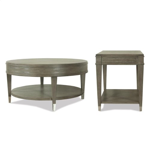 Dara Two - Rectangular Side Table - Gray Wash Finish