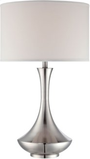 Table Lamp, Ps/white Fabric Shade, E27 Type A 150w Product Image