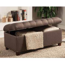 Tufted Mocha Storage Bench