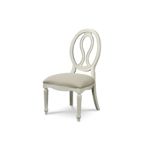 Pierced Back Side Chair - Cotton