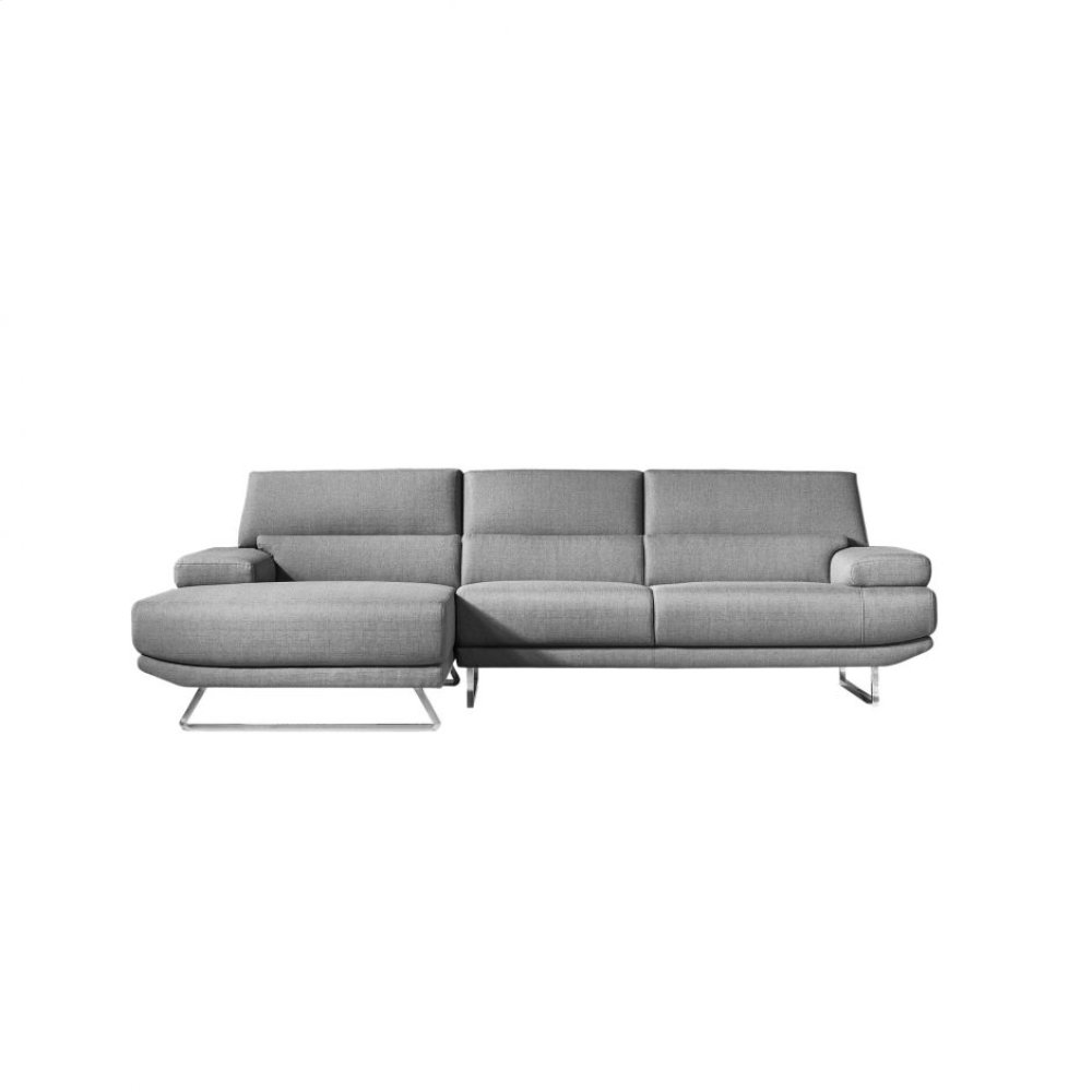 Jenn Sectional Dark Grey Left