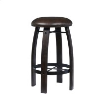 Whiskey Barrel Bar Stool-Distressed Stout Finish