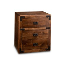 Saratoga 3 Drawer Nightstand