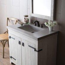 """30"""" Pearl Palomar Vanity Top with Integral Sink"""