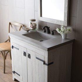 """36"""" Ash Palomar Vanity Top with Integral Sink"""