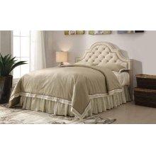 Ojai Traditional Beige Upholstered King Headboard