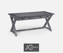 Antique Dark Grey Desk