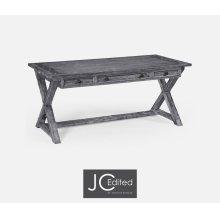 Antique Dark Grey Desk
