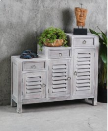 Sunset Trading Three Tiered Cottage Shutter Cabinet
