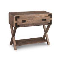 Saratoga Sofa Table X Base Ends w/ Drawer & Shelf