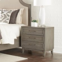Vogue - Three Drawer Nightstand - Gray Wash Finish
