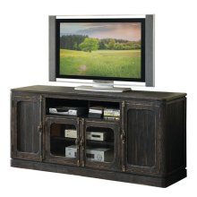 Bellagio 68-Inch TV Console Weathered Worn Black finish