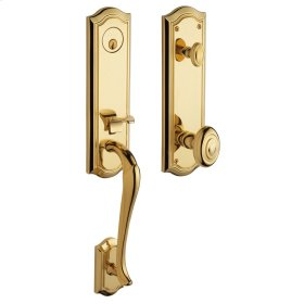 Non-Lacquered Brass Bethpage Handleset