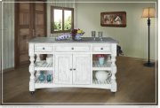 Kitchen Island w/3 Drawer, 2 doors, 4 Shelves & casters Product Image