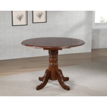 DLU-ADW4242-CT  Round Drop Leaf Dining Table  Chestnut