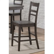 DLU-EL-B200-2  Slat Back Stool  Set of 2  Gray