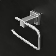 """Wall-mount 6 1/8""""W toilet paper holder made of chrome plated brass."""
