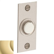 Non-Lacquered Brass Rectangular Bell Button
