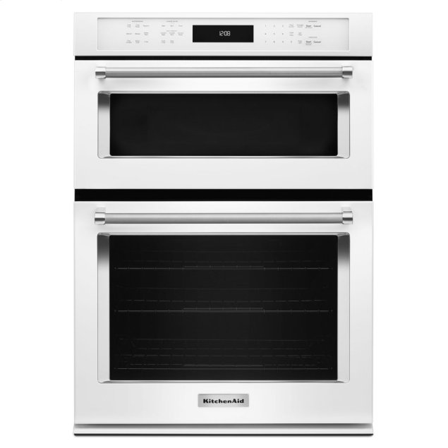 """KitchenAid 30"""" Combination Wall Oven with Even-Heat™ True Convection (Lower Oven) - White"""