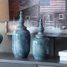 Stewart Lidded Vases,Set of 2