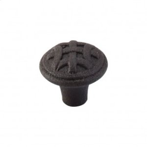 Celtic Small Knob 1 Inch - Rust