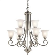 Monroe Collection Monroe 9 Light, 2 Tier Chandelier - NI
