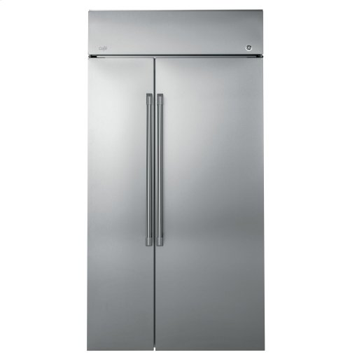 """GE Cafe™ Series 42"""" Built-In Side-by-Side Refrigerator"""