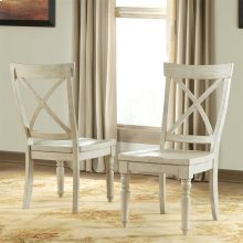 Aberdeen - X-back Side Chair - Weathered Worn White Finish