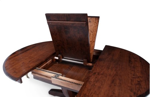 Brookfield Single Pedestal Table, Solid Top