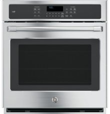 """GE Cafe 27"""" Electric Convection Self-Cleaning Single Wall Oven"""