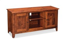 """Shenandoah TV Console with Wood Doors and Open Center, 60"""", Character Cherry"""