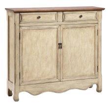 2-Drawer, 2-Door Beige Cabinet