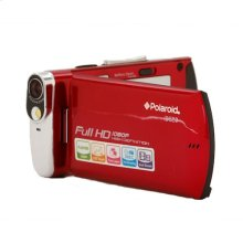 Polaroid 16-Megapixel Ultra Thin 1080p High Definition Camcorder iD820, Red